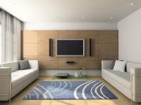 Moderner Teppich Orlando Blau Beige Meliert