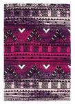 Designer Teppich Maya Muster Lila Fuchsia