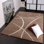 Moderner Designer Webteppich Velorus Teppich Gestreift In Braun Creme AUSVERKAUF