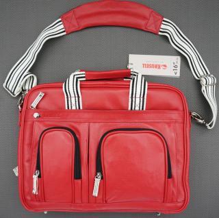 "Breeze Notebookt-Tasche Leder rot bis 16"" - Vorschau 4"