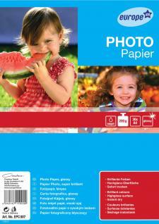 e100 Inkjet Foto-Papier A4 200g glänzend 30 Blatt - Vorschau