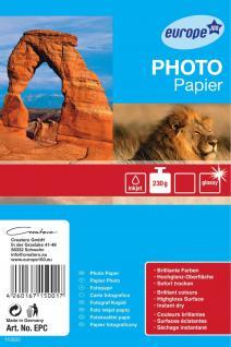 e100 Inkjet Foto-Papier A4 230g glänzend 10 Blatt