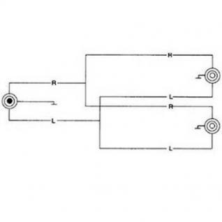 Adapter 6, 3mm-Klinken-Stecker/2x-Kupplung Stereo - Vorschau 3
