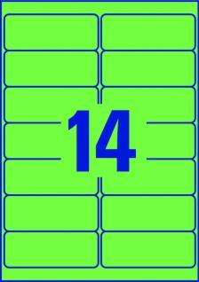 Etiketten wiederablösbar grün 99, 1x38, 1mm 280 Stück - Vorschau 2