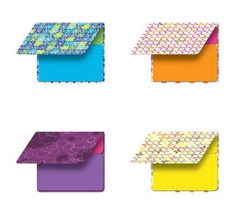 Etiketten-Block im Design Booklet Purple Cicles