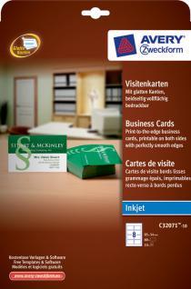 Visitenkarten mit glatten Kanten weiss 85x54mm 80 Karten - Vorschau 2