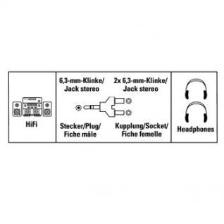 Adapter 6, 3mm-Klinken-Stecker/2x-Kupplung Stereo - Vorschau 2