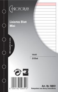 CHRONOPLAN Einlage Liniertes Blatt Mini/A7 - Vorschau 1