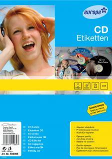 e100 CD-Etiketten 117mm 30x Stück