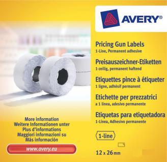 4 Rollen Handauszeichner-Etiketten weiss 26x12mm je Rolle 1500