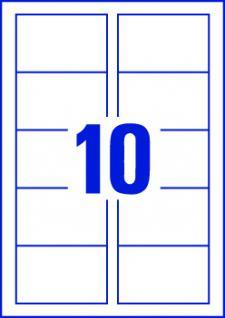 Visitenkarten matt glatte Kanten weiss 85x54mm 100 Karten - Vorschau 3