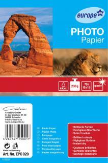 e100 Photo Papier Karten 10x15cm 230g glänzend 70 Blatt - Vorschau