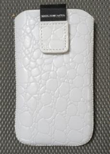 Handy-Tasche Croco weiss - Vorschau 1