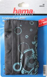 """Festplattentasche Print schwarz 2, 5"""" ; - Vorschau 3"""