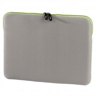 """Design Notebook-Cover grau/grün bis 13"""" - Vorschau"""