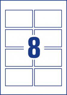 Visitenkarten mit glatten Kanten weiss 85x54mm 80 Karten - Vorschau 3