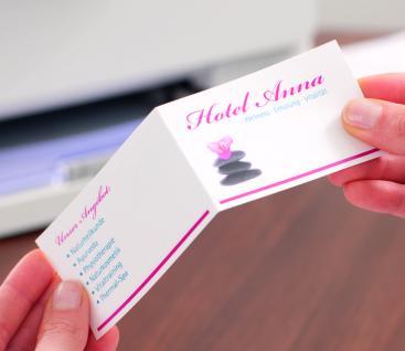 Falt-Visitenkarte 260g DIN A4 matt weiss 100 Karten - Vorschau 5