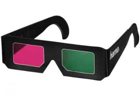 Papier-Farbfilterbrille für 3D-Filme Magenta/Grün - Vorschau