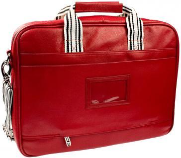 "Breeze Notebookt-Tasche Leder rot bis 16"" - Vorschau 2"