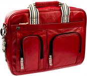 "Breeze Notebookt-Tasche Leder rot bis 16"" ;"