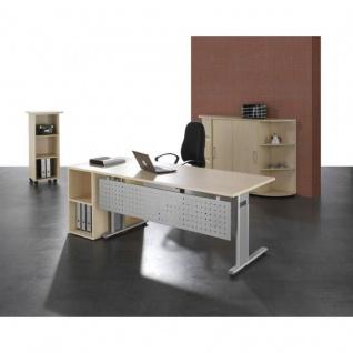 Büro komplett Büromöbel Lissabon 7-tlg., Schreibtisch Schrank Caddy Regal