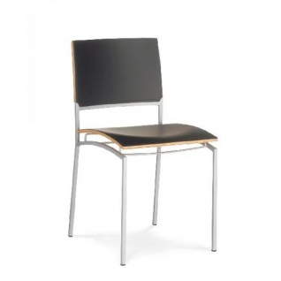 Mayer Design Stuhl CROSS IMAGE 2189 echt Leder schwarz