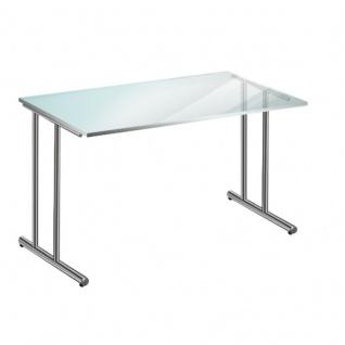 schreibtisch satiniertes glas g nstig online kaufen yatego. Black Bedroom Furniture Sets. Home Design Ideas