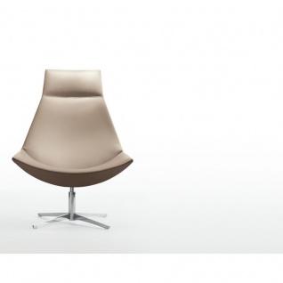Design Lounge Sessel Mehrzwecksessel Kayak 4-Fußkreuz verchromt einfarbig hohe Lehne