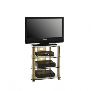 tv rack mit rollen g nstig online kaufen bei yatego. Black Bedroom Furniture Sets. Home Design Ideas