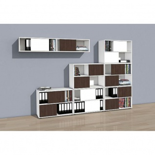 regal mit schiebet r online bestellen bei yatego. Black Bedroom Furniture Sets. Home Design Ideas