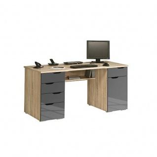Computertisch weiss hochglanz g nstig online kaufen yatego for Schreibtisch edelbuche