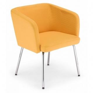 Lounger Sessel Hello 4 L chrom Kunstleder 4 Fuss