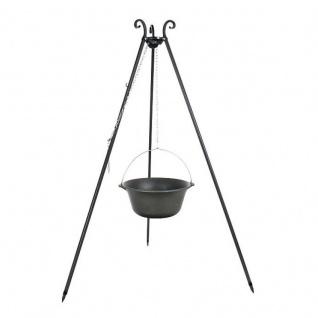Outdoor Grill mit Feuerschale Pan 35, Dreibein, Kessel Gusseisen verschiedene Größen