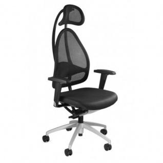 Bürodrehstuhl Open Art 10 schwarz Netzrückenlehne