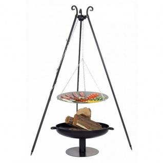 Outdoor Grill mit Feuerschale Pan 41, Dreibein, Lagerfeuerpfanne verschiedene Größen