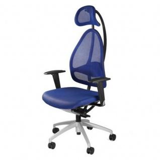Bürodrehstuhl Open Art 10 blau Netzrückenlehne