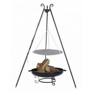 Outdoor Grill mit Feuerschale Pan 42, Dreibein, Lagerfeuerpfanne verschiedene Größen