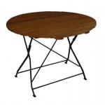 Klapptisch Holztisch Gartentisch Tisch, rund, Gestell dunkel Grün 100 cm