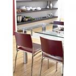 Mayer Design Stuhl CROSS IMAGE 2189 echt Leder weinrot