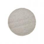 Teppich Wohnteppich Wollteppich My Logan, rund, 100% Wolle, handgefertigt, elfenbein
