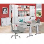 Büroschrank Aufsatzschrank Tec-art 2 Ordnerhöhen 74x100x420 cm