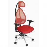 Bürodrehstuhl Open Art 10 rot Netzrückenlehne