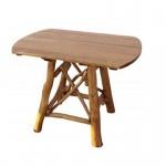 Holztisch Knüppelholztisch Tisch oval massiv Eiche