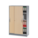 Büroschrank Schiebetürenschrank Tec-art 4 Ordnerhöhen 156x100x420 cm