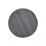 Teppich Wohnteppich Wollteppich My Logan, rund, 100% Wolle, handgefertigt, graphit