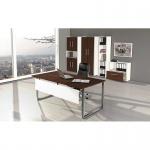 Büro Schreibtisch AVETO 180 x 80 x 68 - 82 cm Kufen-Gestell