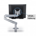 Monitorschwenkarm aus hochwertigem Aluminium, silber, mit VESA-kompatibel Fb. silber