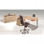 Büro Schreibtisch tec-art office 195x100/80 x 68-82 cm links, C-Fuß-Gestell