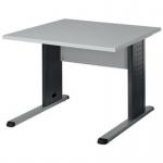 Schreibtisch BÜRO COMBI+ 3, 800 mm C-Fußgestell Alu/anthrazit