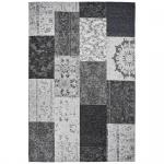 Teppich Wohnteppich My Mersey 1150, Patchwork-Optik, silber